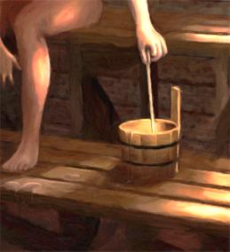 Löyly - Detail of Spirit of the Ingrian Sauna by Henrik Ryosa