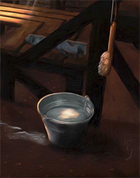 Wash Basin - Detail of Spirit of the Ingrian Sauna by Henrik Ryosa