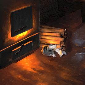Sauna Stove - Detail of Spirit of the Ingrian Sauna by Henrik Ryosa