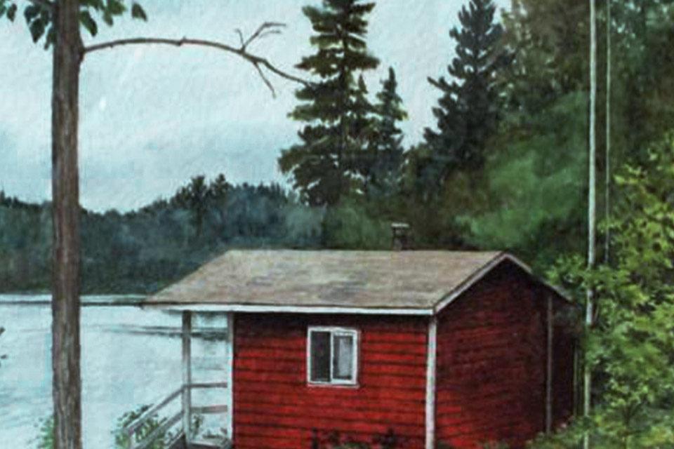 Sauna camp painting by Eva Luca - www.evaluca.com